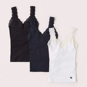 3 pack lace icon cami, NWOT